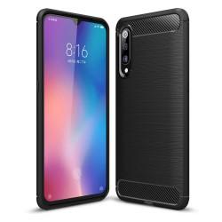 Funda Gel Tpu Tipo Carbon Negra para Xiaomi Mi 9