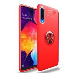 Funda Magnetica Soporte con Anillo Giratorio 360 para Samsung Galaxy A70 Roja