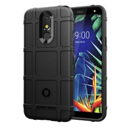 Funda Armor Rugged Shield Antigolpes para Lg K40 color Negra