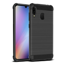 Funda Gel Tpu Anti-Shock Carbon Negra para Samsung Galaxy A40