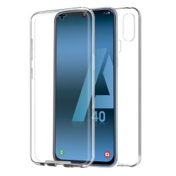 Funda Completa Transparente Pc + Tpu Full Body 360 para Samsung Galaxy A40
