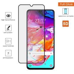 Protector Cristal Templado Completo 5D Full Glue Negro para Samsung Galaxy A70