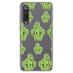 Funda Gel Transparente para Xiaomi Mi 9 SE diseño Cactus Dibujos
