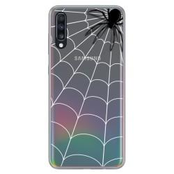 Funda Gel Transparente para Samsung Galaxy A70 diseño Araña Dibujos
