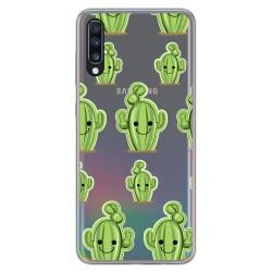 Funda Gel Transparente para Samsung Galaxy A70 diseño Cactus Dibujos