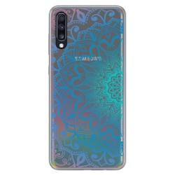 Funda Gel Transparente para Samsung Galaxy A70 diseño Mandala Dibujos