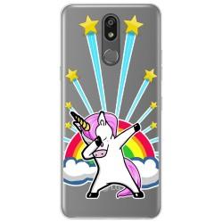Funda Gel Transparente para Lg K40 diseño Unicornio Dibujos