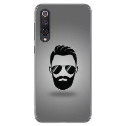 Funda Gel Tpu para Xiaomi Mi 9 SE diseño Barba Dibujos