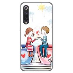 Funda Gel Tpu para Xiaomi Mi 9 SE diseño Café Dibujos