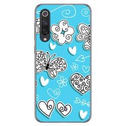 Funda Gel Tpu para Xiaomi Mi 9 SE diseño Mariposas Dibujos