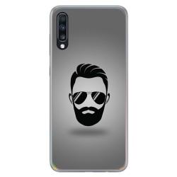 Funda Gel Tpu para Samsung Galaxy A70 diseño Barba Dibujos