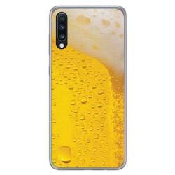 Funda Gel Tpu para Samsung Galaxy A70 diseño Cerveza Dibujos