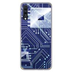 Funda Gel Tpu para Samsung Galaxy A70 diseño Circuito Dibujos