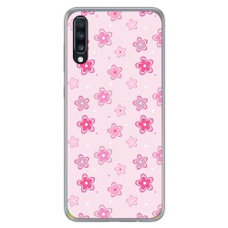 Funda Gel Tpu para Samsung Galaxy A70 diseño Flores Dibujos