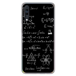 Funda Gel Tpu para Samsung Galaxy A70 diseño Formulas Dibujos