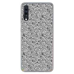 Funda Gel Tpu para Samsung Galaxy A70 diseño Letras Dibujos