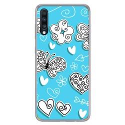 Funda Gel Tpu para Samsung Galaxy A70 diseño Mariposas Dibujos