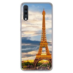 Funda Gel Tpu para Samsung Galaxy A70 diseño Paris Dibujos