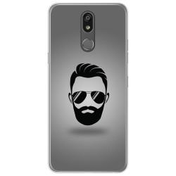 Funda Gel Tpu para Lg K40 diseño Barba Dibujos