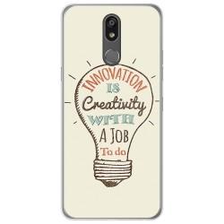Funda Gel Tpu para Lg K40 diseño Creativity Dibujos
