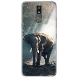 Funda Gel Tpu para Lg K40 diseño Elefante Dibujos