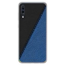 Funda Gel Tpu para Samsung Galaxy A70 diseño Cuero 02 Dibujos