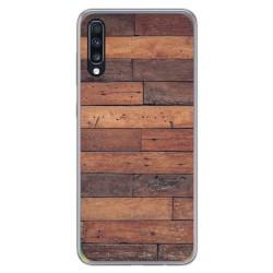 Funda Gel Tpu para Samsung Galaxy A70 diseño Madera 03 Dibujos