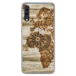 Funda Gel Tpu para Samsung Galaxy A70 diseño Madera 07 Dibujos