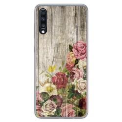 Funda Gel Tpu para Samsung Galaxy A70 diseño Madera 08 Dibujos