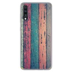 Funda Gel Tpu para Samsung Galaxy A70 diseño Madera 10 Dibujos