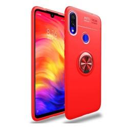 Funda Magnetica Soporte con Anillo Giratorio 360 para Xiaomi Redmi Note 7 Roja