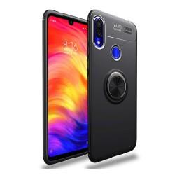 Funda Magnetica Soporte con Anillo Giratorio 360 para Xiaomi Redmi Note 7 Negra