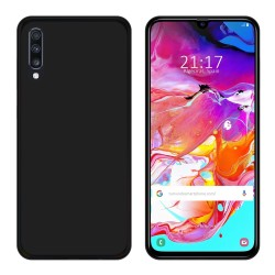 Funda Gel Tpu para Samsung Galaxy A70 Color Negra