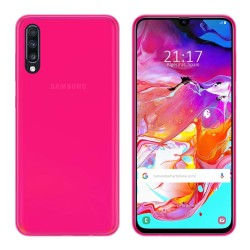 Funda Gel Tpu para Samsung Galaxy A70 Color Rosa