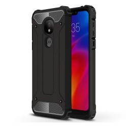 Funda Tipo Hybrid Tough Armor (Pc+Tpu) Negra para Motorola Moto G7 Power
