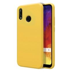 Funda Silicona Líquida Ultra Suave para Huawei Y6 2019 / Y6s 2019 color Amarilla