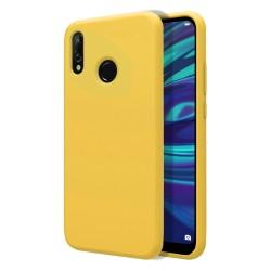 Funda Silicona Líquida Ultra Suave para Huawei Y7 2019 color Amarilla