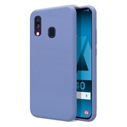 Funda Silicona Líquida Ultra Suave para Samsung Galaxy A40 color Azul Celeste