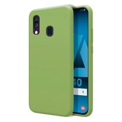 Funda Silicona Líquida Ultra Suave para Samsung Galaxy A40 color Verde