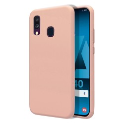 Funda Silicona Líquida Ultra Suave para Samsung Galaxy A40 color Rosa