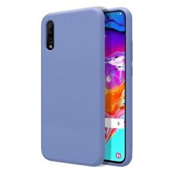 Funda Silicona Líquida Ultra Suave para Samsung Galaxy A70 color Azul Celeste