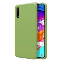 Funda Silicona Líquida Ultra Suave para Samsung Galaxy A70 color Verde