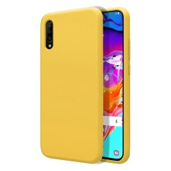 Funda Silicona Líquida Ultra Suave para Samsung Galaxy A70 color Amarilla