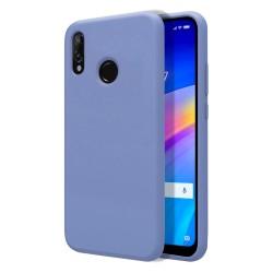 Funda Silicona Líquida Ultra Suave para Xiaomi Redmi 7 color Azul Celeste
