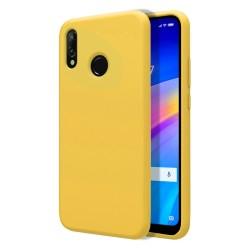 Funda Silicona Líquida Ultra Suave para Xiaomi Redmi 7 color Amarilla