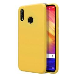 Funda Silicona Líquida Ultra Suave para Xiaomi Redmi Note 7 color Amarilla