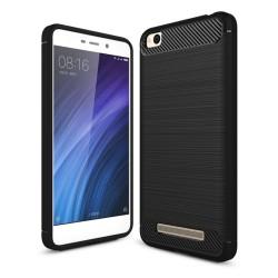 Funda Gel Tpu Tipo Carbon Negra para Xiaomi Redmi 4A