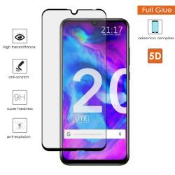 Protector Cristal Templado Completo 5D Full Glue Negro para Huawei Honor 20 Lite Vidrio