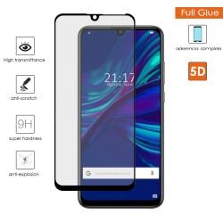 Protector Cristal Templado Completo 5D Full Glue Negro para Huawei P Smart + Plus 2019 Vidrio