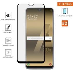 Protector Cristal Templado Completo 5D Full Glue Negro para Samsung Galaxy A20e 5.8 Vidrio
